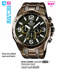 Часы CASIO EFR-538BK-3AVUEF - Дека