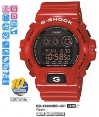 Часы CASIO GD-X6900RD-4ER - Дека