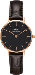 Часы Daniel Wellington DW00100226 Classic Petite 28 York RG Black - Дека