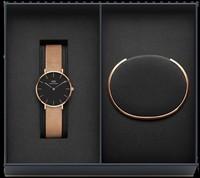 Часы Daniel Wellington DW00500001 набор женский - Дека